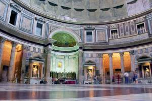 The Pantheon in Rome is a temple in the city Centre. Pantheon tours Information and guided tours of the Pantheon's dome, official provate guided tours of Rome Rome Information the best site on tourism in rome