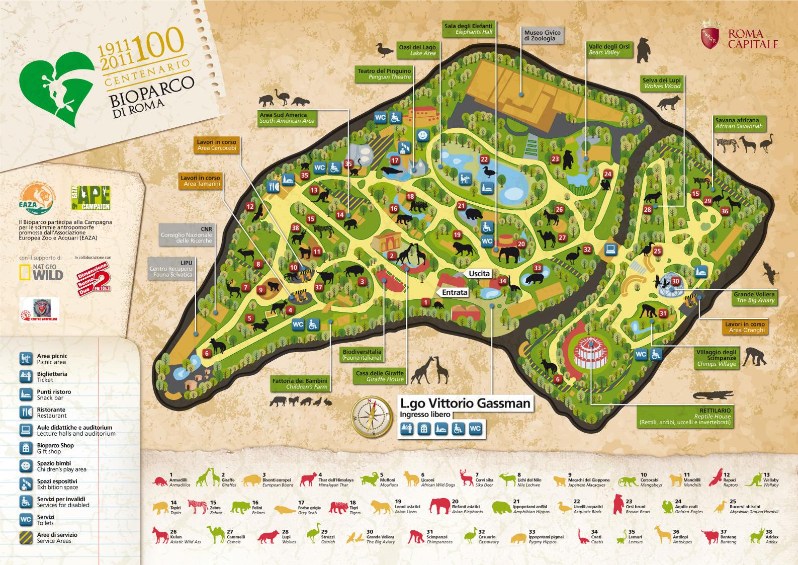 Mappa Bioparco