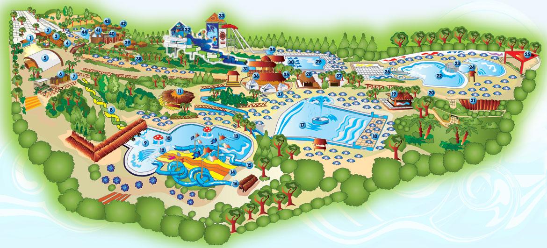 Mappa del parco Hydromania