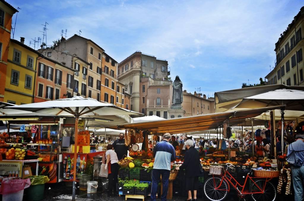 Image result for Campo dei Fiori market, Rome